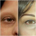 Micropigmentazione sopracciglia: tecnica mista pelo+sfumatura