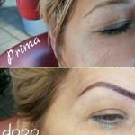 Micropigmentazione sopracciglia. Tecnica mista: ombreggiatura+pelo