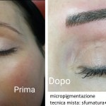 micropigmentazione sopracciglia con tecnica mista: sfumatura+pelo