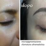 micropigmentazione sopracciglia con sfumatura ultrarealistica